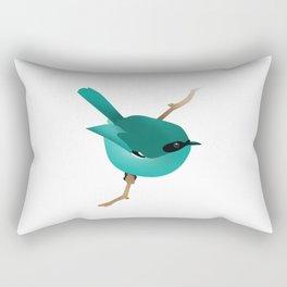 Little Blue Bird Rectangular Pillow