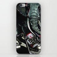 sneaker iPhone & iPod Skins featuring SNEAKER ELEPHANT by Juan Diaz