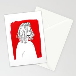 RED SHIRLEY MANSON Stationery Cards