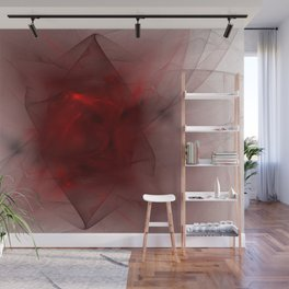 Folds in Red (Red series #12) Wall Mural