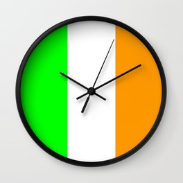 flag of ireland 5 -ireland,eire,airlann,irish,gaelic,eriu,celtic,dublin,belfast,joyce,beckett Wall Clock