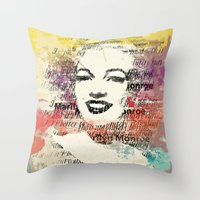 monroe Throw Pillows featuring MONROE by Smart Friend