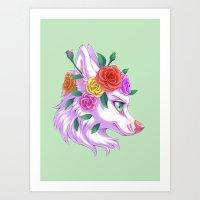 Flower Crown Art Print