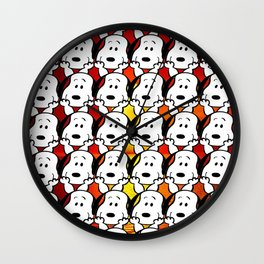 Sunset snoopy Wall Clock