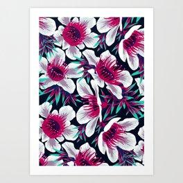 Manuka Floral Print -  Light Art Print