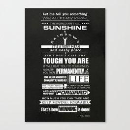 Motivational poster rocky balboa speech Canvas Print