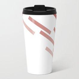 Modern Abstract Red and White #minimal #decor #design #kirovair #buyart Travel Mug