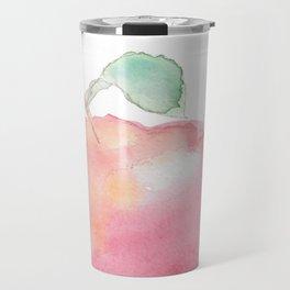 Watercolor Apple Travel Mug