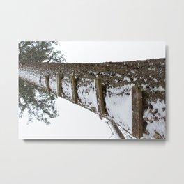 Stairway to Snow Metal Print