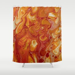 Japanese Magma Lava Marble Art Shower Curtain