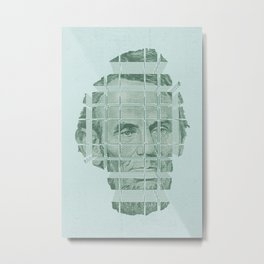 The Various Parts of Mr. Lincoln Exploding Towards the Viewer Metal Print