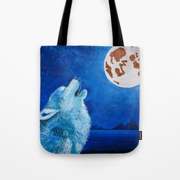 Night Wolf Tote Bag