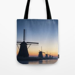 Windmills at Sunrise IV Tote Bag
