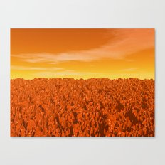 Sunrise On Planet Mars Canvas Print