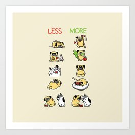 New Years Resolution with The Pug Art Print