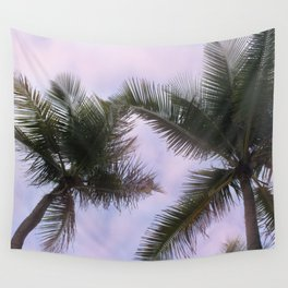 Pink Palm Wall Tapestry