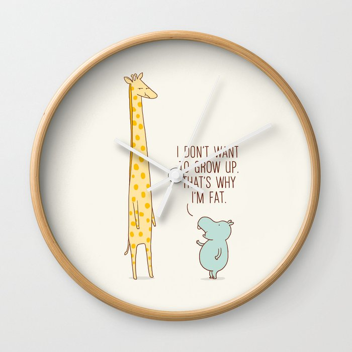 I don't want to grow up Wall Clock