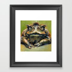 Toad Queen Framed Art Print