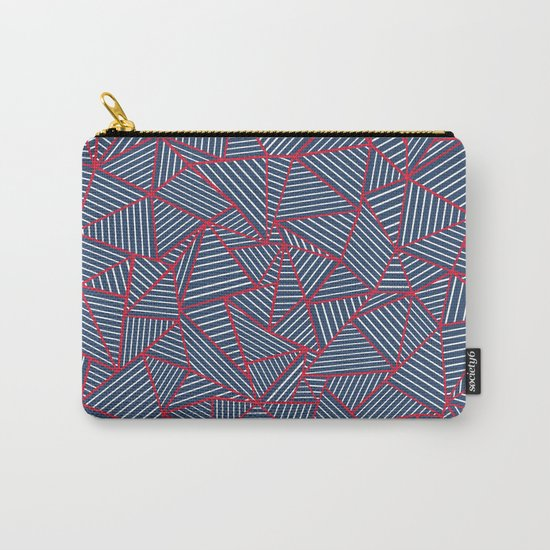 Ab Out Navy Red Carry-All Pouch