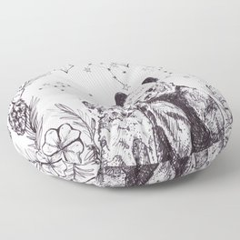 Wolf and Bear United Floor Pillow