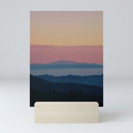 A touch of pink in San Gabriel Mini Art Print