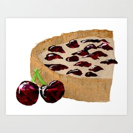 Cherry Tart Art Print