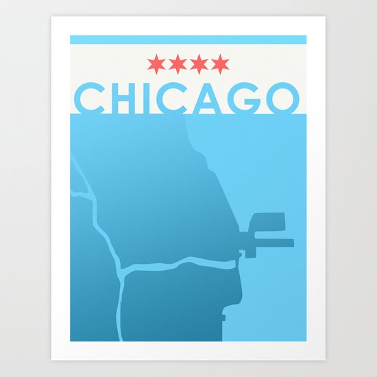 Minimalist Chicago Art Print