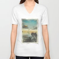alice wonderland V-neck T-shirts featuring Dating Alice in wonderland by HappyMelvin