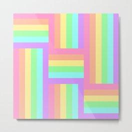 Woven Rainbow 2 Metal Print