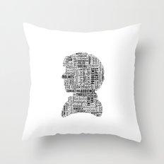 Sherlock BBC Benedict Cumberbatch Typography Silhouette Throw Pillow