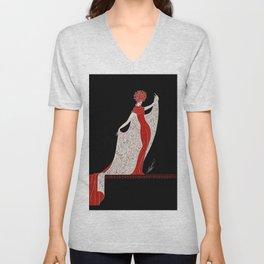 """Art Deco Fashion Design """"Alphabet Cloak"""" Unisex V-Neck"""