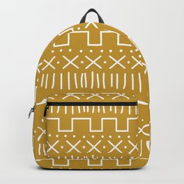 Mustard Mud Cloth Backpack