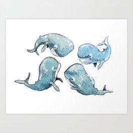 Whale talk Art Print