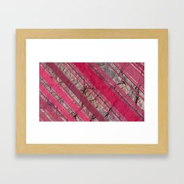 Pink  & Rock Framed Art Print