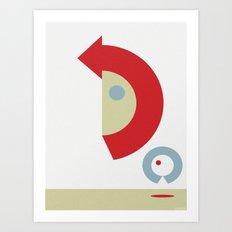 U-TURN Art Print