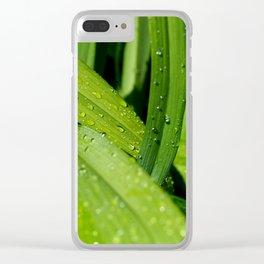 Summer Rain Clear iPhone Case