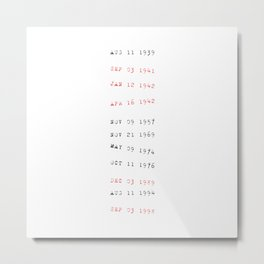 Due date Metal Print