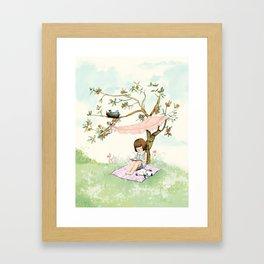 My summer Tree, girl room decor, nursery decor Framed Art Print