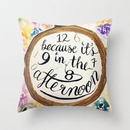 Panic at the Disco! lyrics from Nine in the Afternoon Throw Pillow