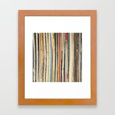 Record Collection Framed Art Print