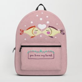 VALENTINE'S FISH IN LOVE Backpack