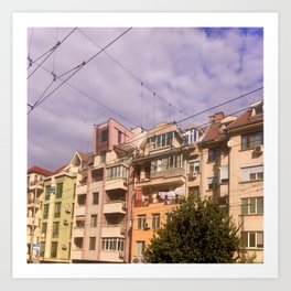 City Street Buildings Art Print