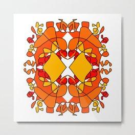 fire mandala (6-2-19) Metal Print