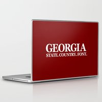 georgia Laptop & iPad Skins featuring Georgia by The Cracked Dispensary