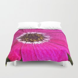 Pink African Daisy Flower Floral Painting Duvet Cover
