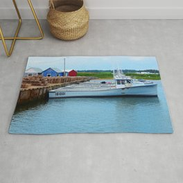 Lobster Boats and Traps Rug