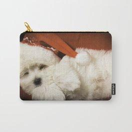 Sleepy Santa Puppy Carry-All Pouch