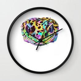 Colored Leopard Gecko Wall Clock