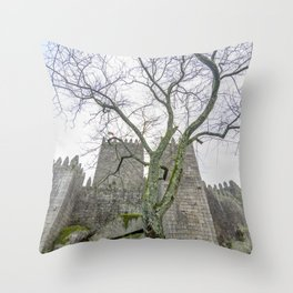 The Castle tree Throw Pillow