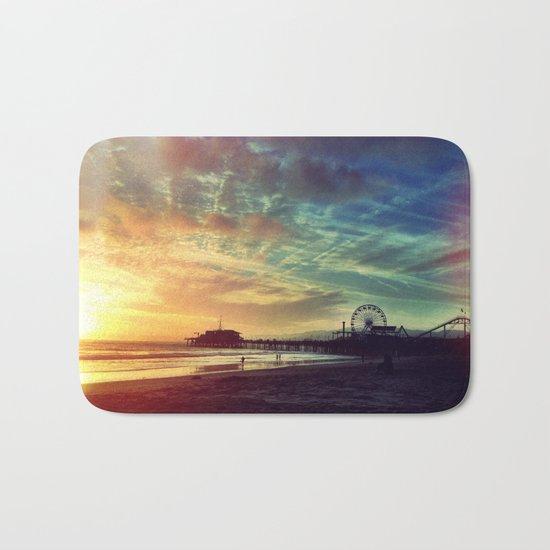 Photography + Color - Santa Monica Sunset Bath Mat